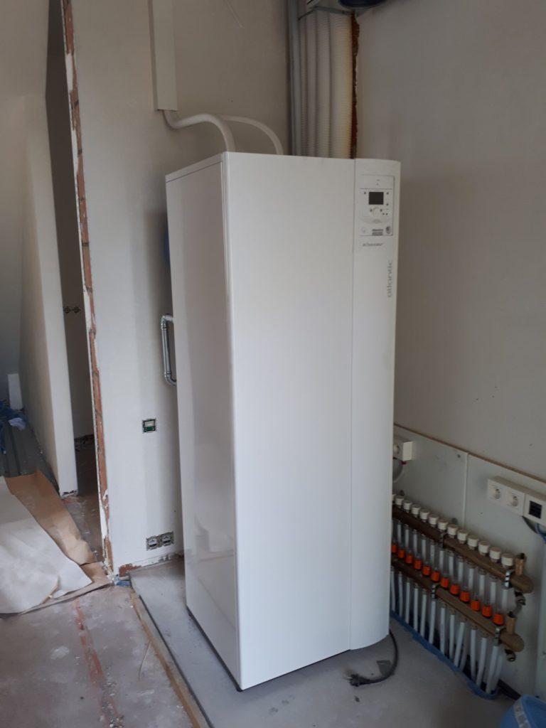 Warmtepomp met boiler